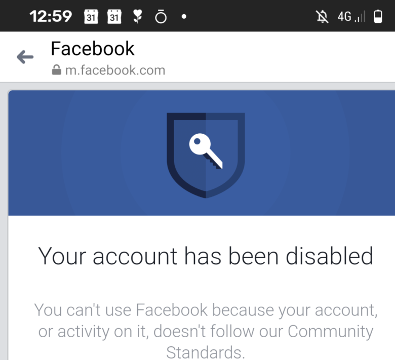 Facebook have disabled my account